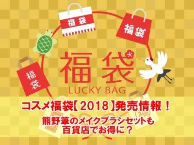 コスメ福袋2018発売情報熊野筆のメイクブラシセットも百貨店でお得に?