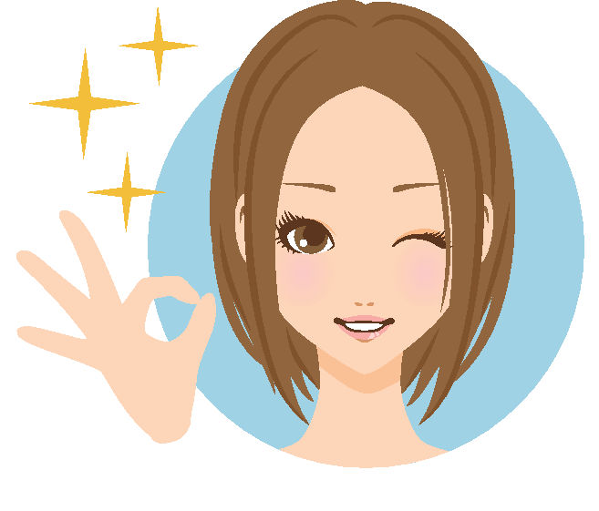 女性ボブgood笑顔