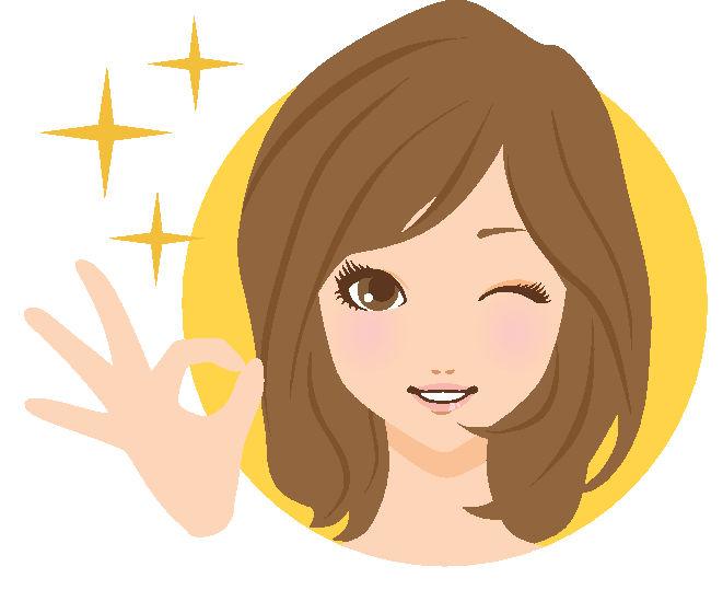 女性セミgood笑顔