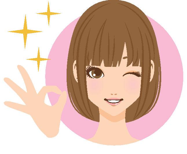 女性前髪good笑顔