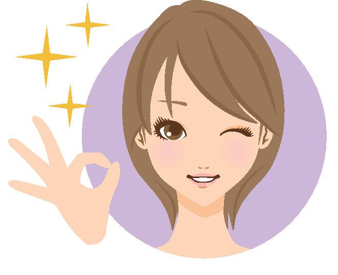 女性ショートgood笑顔