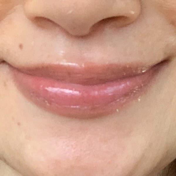 ブビブビリップリップマッサージ後の唇